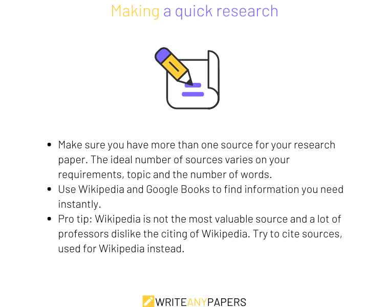 Tips for making a quick research for your paper