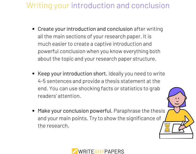 How to write a research paper fast by leaving introduction and conclusion until the end