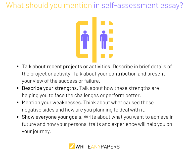 How to write a self-assessment paper: 4 things to mention