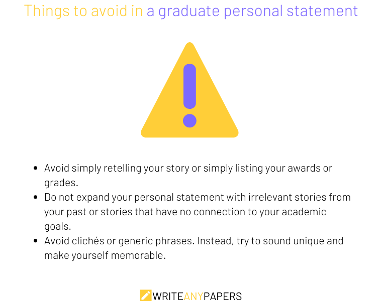 Things you should not mention in your graduate personal statement