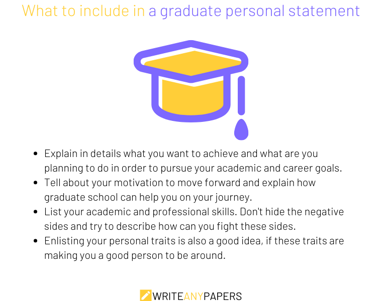 Things that should be included in a graduate personal statement