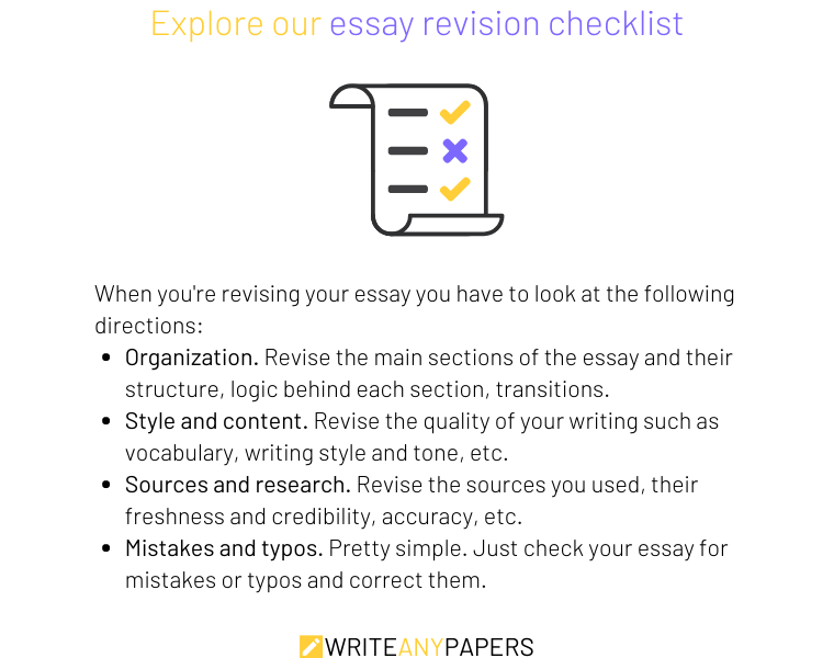 A useful checklist for essay revision