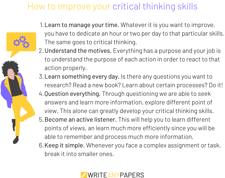 Tips on how to improve critical thinking skills