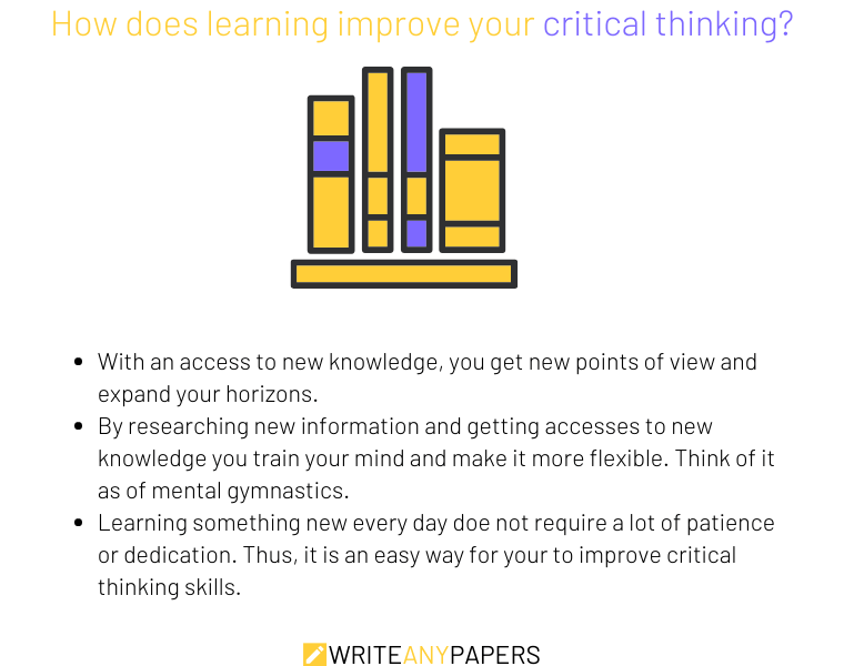 Improve critical thinking through learning