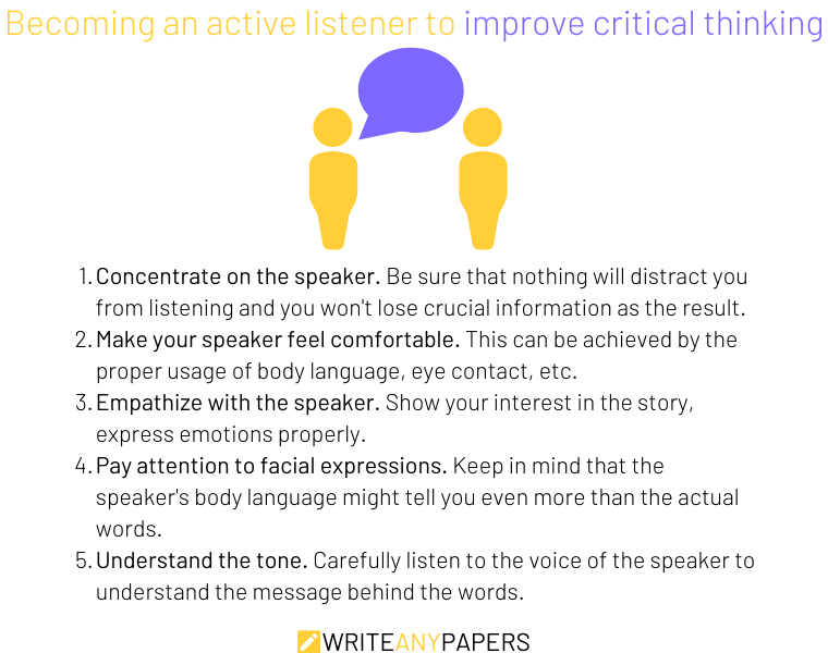 Improve critical thinking through listening