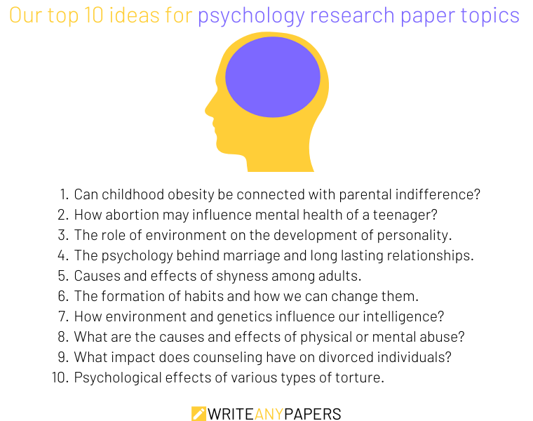 Our top 10 psychology research paper topics ideas