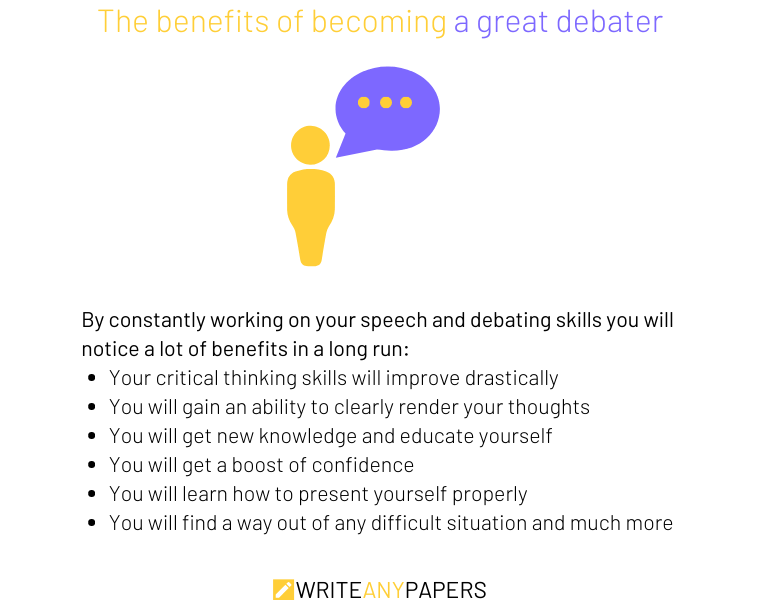 The benefits of becoming a good debater