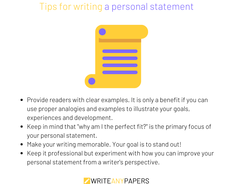 Four tips on how to write a personal statement