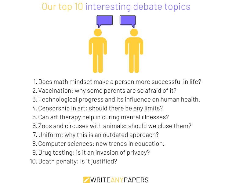 Our top 10 ideas for debate topics