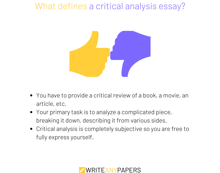 Things that define critical analysis essay