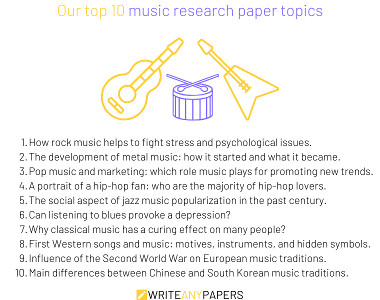 Our top 10 ideas for music research paper topics